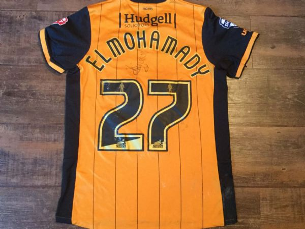 2015 2016 Hull City Match Worn Elmohamady No 27 Home Football Shirt